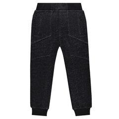 Pantalon de jogging en molleton fantaisie avec jeu de découpes