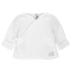 Gilet brassière en tricot du prématuré au 3 mois
