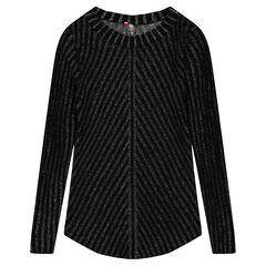 Junior - Pull long en tricot fantaisie avec fil argenté