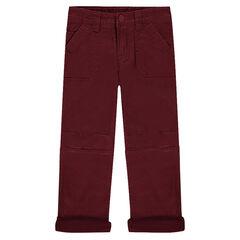 Pantalon en toile doublé micropolaire