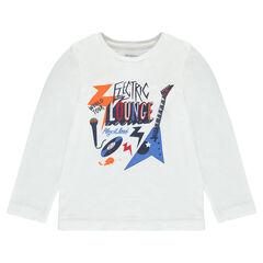 Junior - Tee-shirt manches longues avec print fantaisie