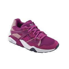 PUMA - Baskets basses coloris violet à lacets élastiqués du 28 au 35