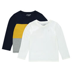 Junior - Lot de 2 tee-shirts manches longues en jersey
