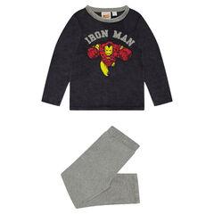 Pyjama en velours bicolore print Iron Man