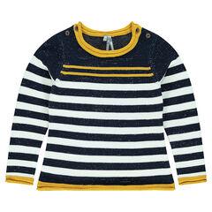Junior - Pull en tricot esprit marinière