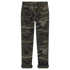 Junior - Pantalon army coupe droite