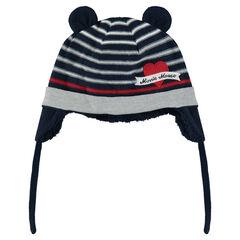 Bonnet en tricot doublé sherpa avec oreilles - Disney Minnie