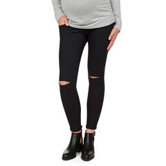 Jeans de grossesse slim avec déchirures genoux