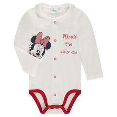 Body en jersey à col claudine et print Disney Minnie