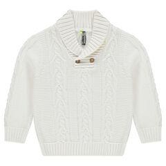 Pull en tricot avec col châle