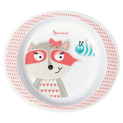 Assiette micro-ondable - pink racoon