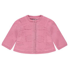 Gilet en tricot avec motif nuage ton sur ton
