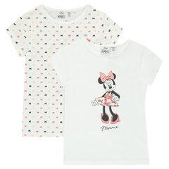 Lot de 2 tee-shirt (maillots de corps) Disney Minnie