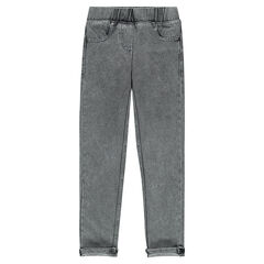 Jegging en molleton denim
