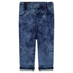 Jeans en molleton effet neige