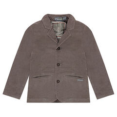 Blazer en velours taupe doublé jersey
