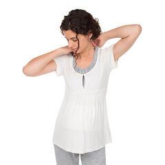 Tee-shirt manches courtes de grossesse et d'allaitement imprimé