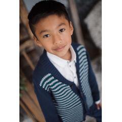 Junior - Gilet en tricot fantaisie col châle
