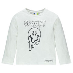 Tee-shirt manches longues Halloween avec Smiley fantôme