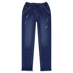 Junior - Jegging en molleton effet denim