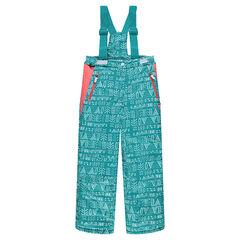 Junior - Pantalon de ski imprimé à bretelles amovibles