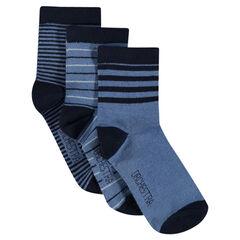 Lot de 3 paires de chaussettes rayées