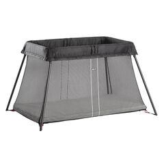 Lit parapluie Light + drap housse - Noir