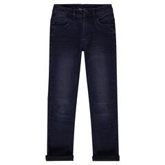 Junior - Jeans slim effet used et crinkle