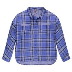 Junior - Chemise à carreaux en coton fantaisie