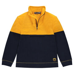 Junior - Sweat en micropolaire bicolore