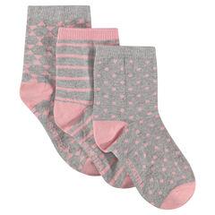Lot de 3 paires de chaussettes imprimées