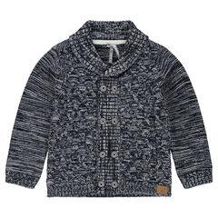 Gilet en tricot mélangé avec col châle