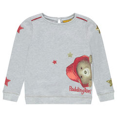 Sweat en molleton effet pailleté print ©Paddington