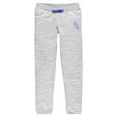 Junior - Pantalon en molleton gris chiné