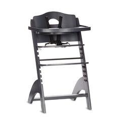 Chaise haute Zeta avec tablette - Gris anthracite