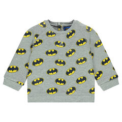 Sweat en molleton avec print logo BATMAN