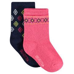Lot de 2 paires de chaussettes à motif jacquard