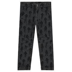 Pantalon en molleton avec print astronautes all-over