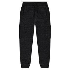 Junior - Pantalon de jogging aspect neps à poches