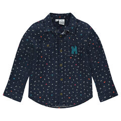 Chemise manches longues imprimée all-over Disney Mickey