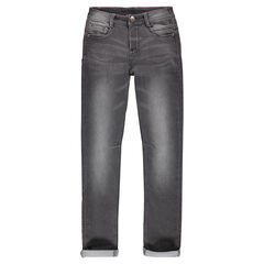 Junior - Pantalon en molleton effet denim used