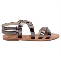 Nu-pieds effet métallique