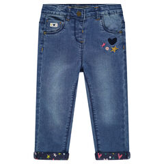 Jeans slim avec broderies