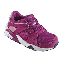 PUMA - Baskets basses coloris violet à lacets élastiqués