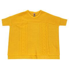 Junior - Pull poncho en tricot