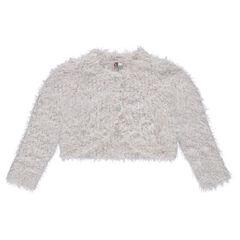 Gilet court en tricot poil et lurex