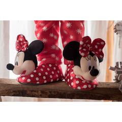 Chaussons peluche à pois Disney Minnie du 24 au 27