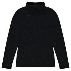 Junior - Sous-pull col roulé en jersey dévoré