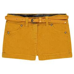 Short en velours avec ceinture amovible