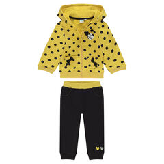 Jogging en molleton jaune et gris Disney Minnie